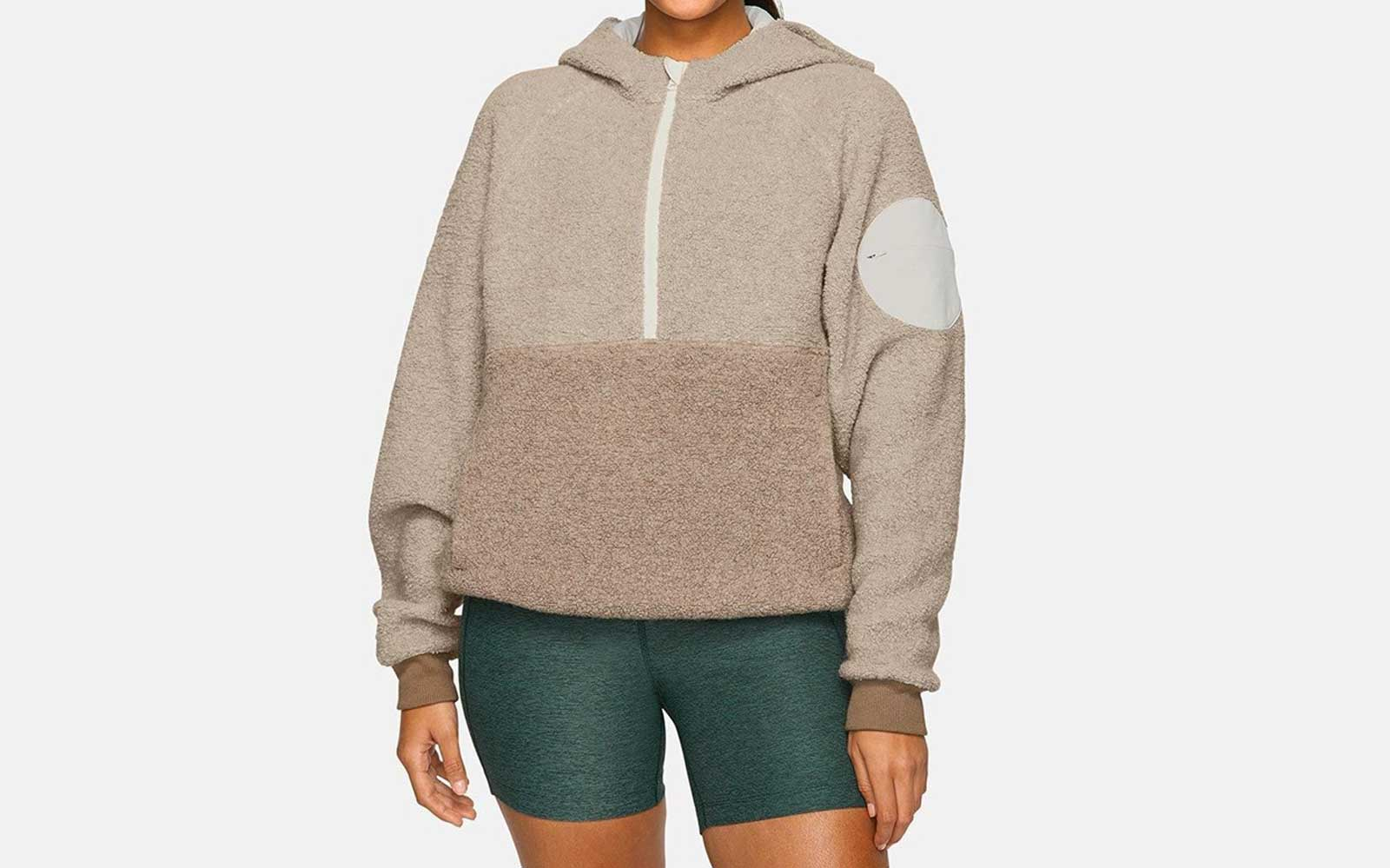 Oatmeal Outdoor Voices Fleece Hoodie