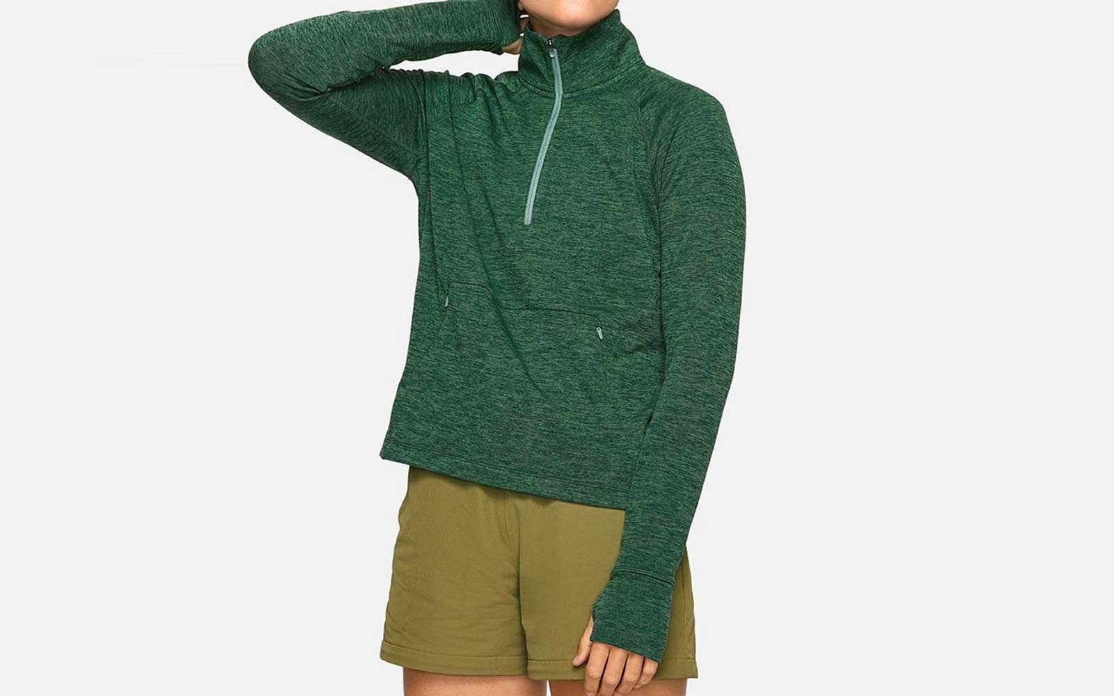 Green Outdoor Voices Zip-up Fleece
