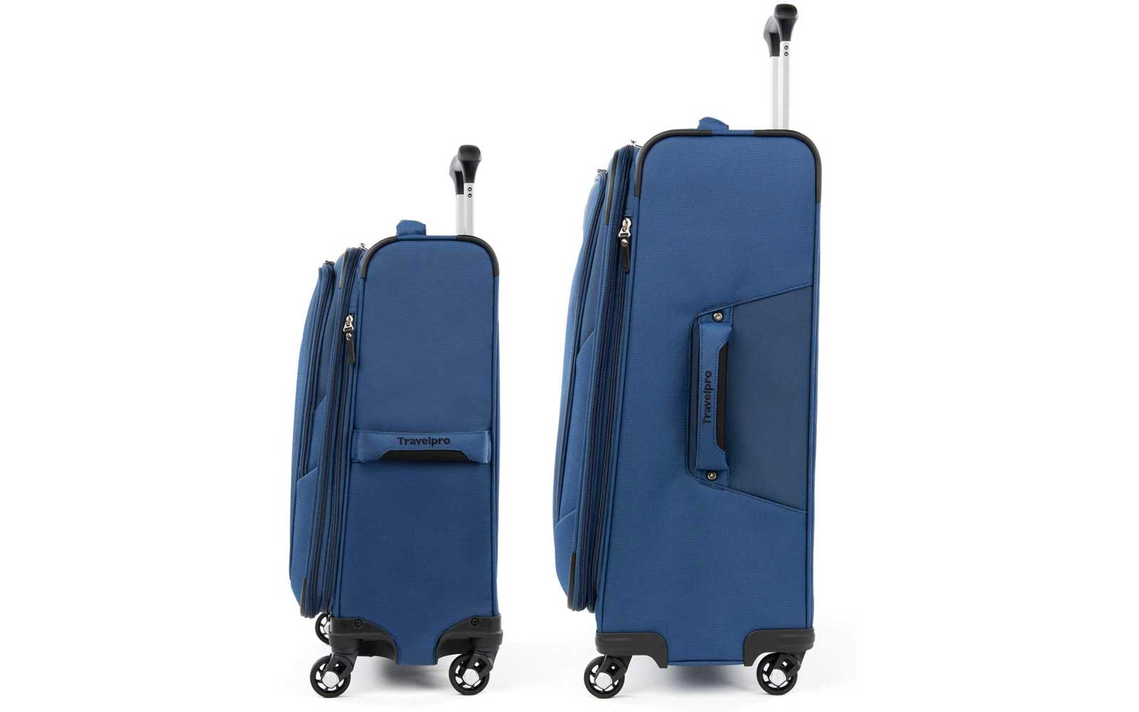 Blue Travelpro Softside Luggage Set Side View