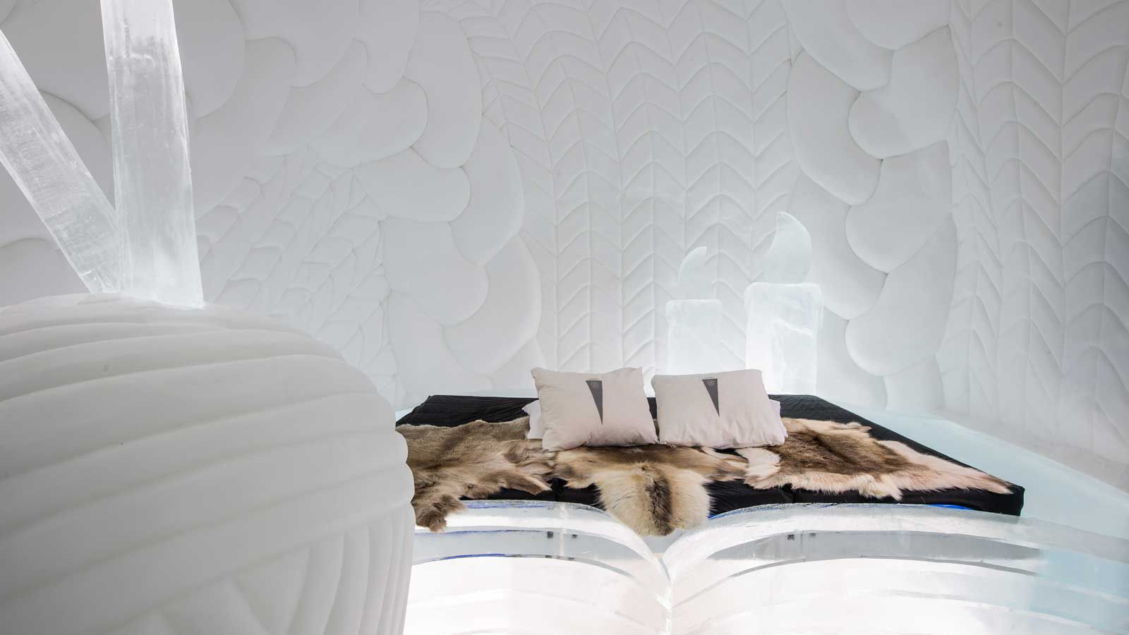 A room designed for the Ice Hotel