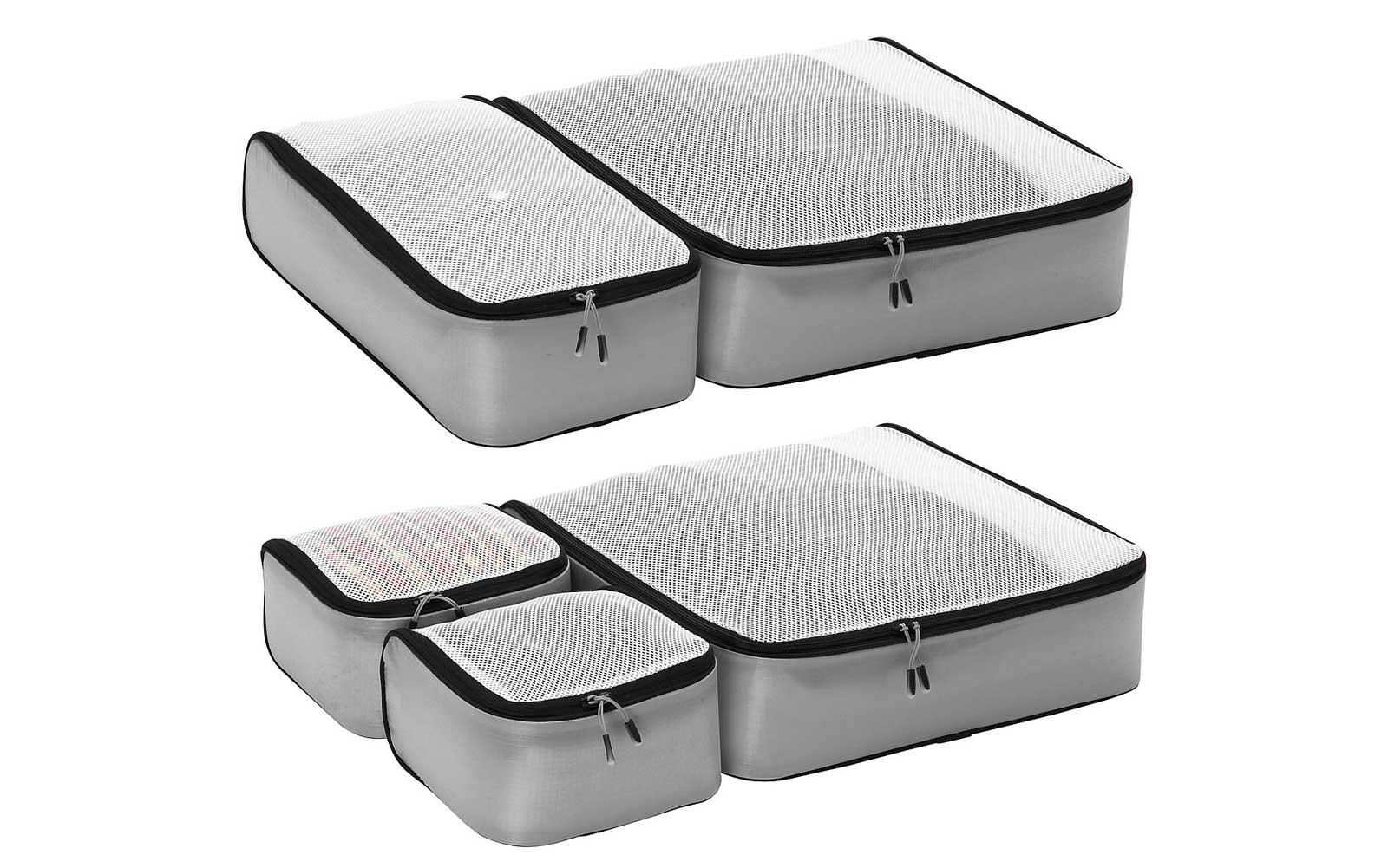 Light Grey Set of Five Packing Cubes