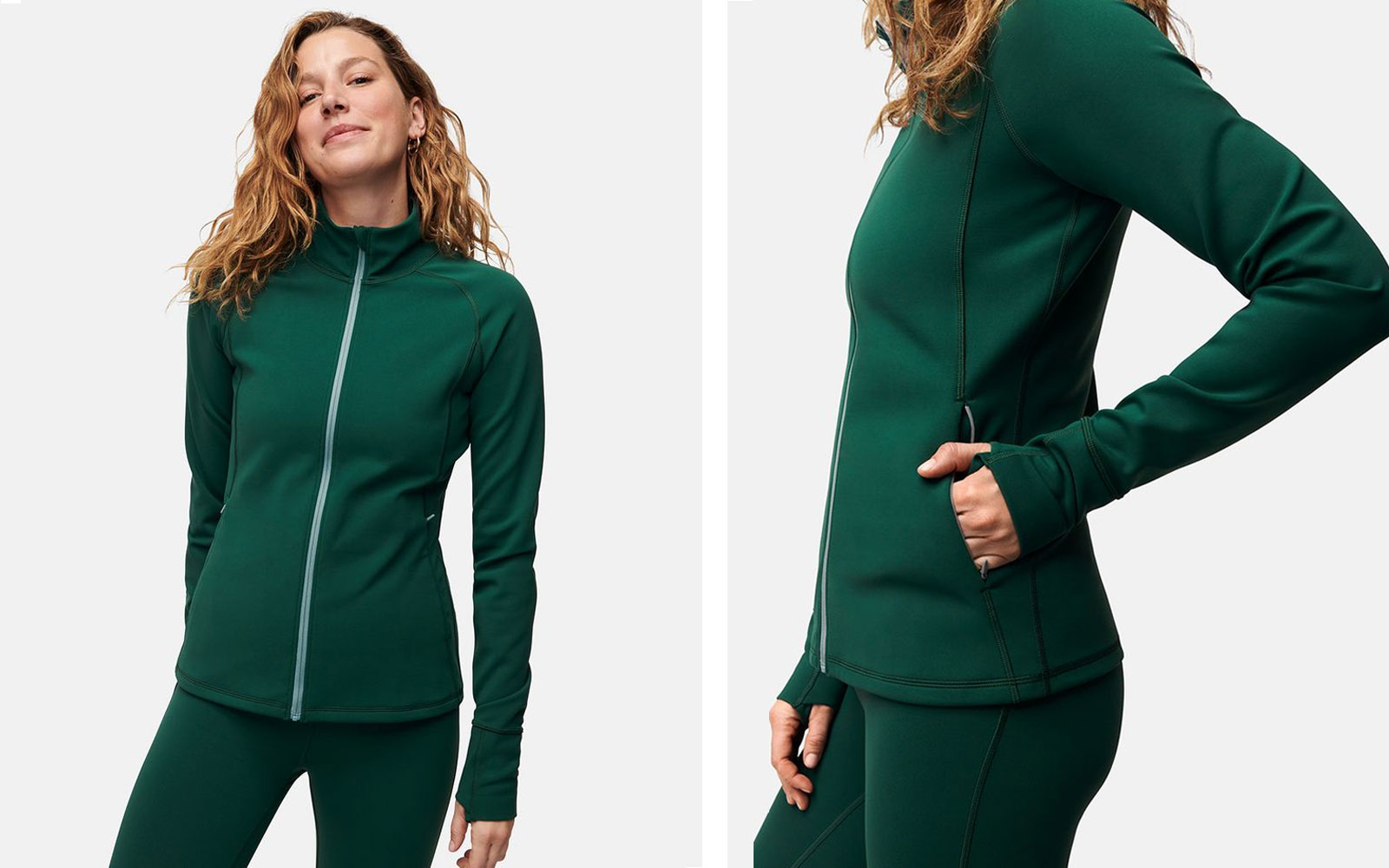 Women's Green Workout Jacket