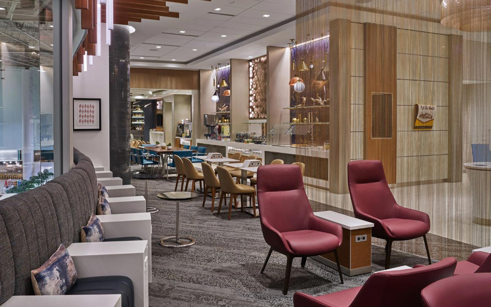 Delta Air Lines Sky Club Lounge buffet
