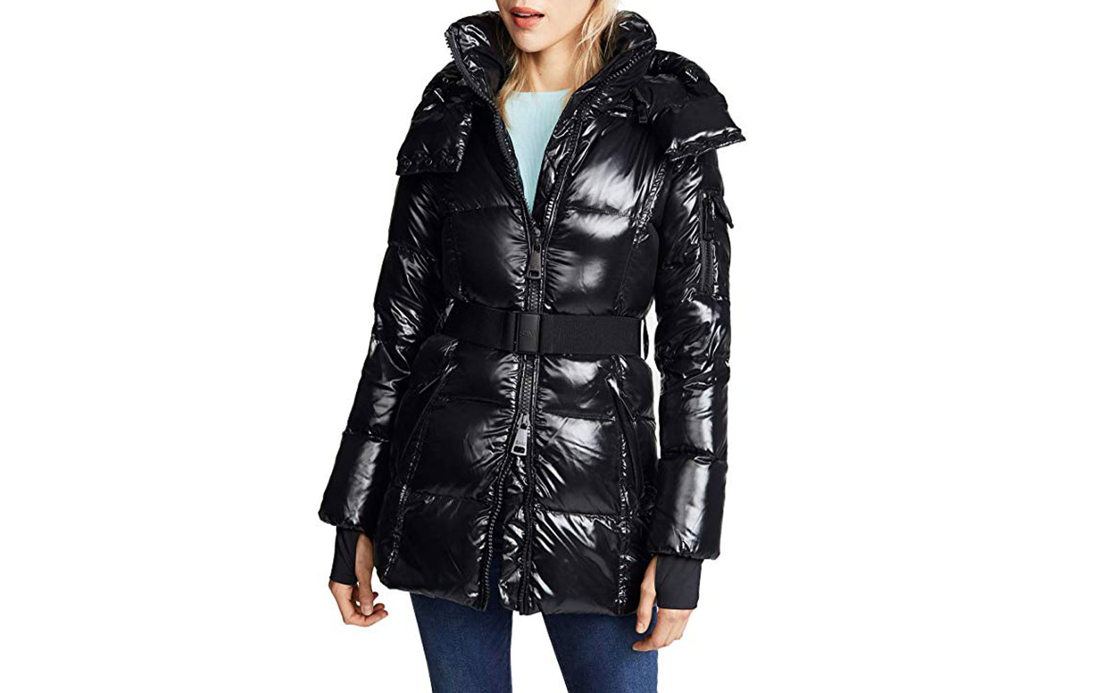 Women's Black Puffer Long Coat