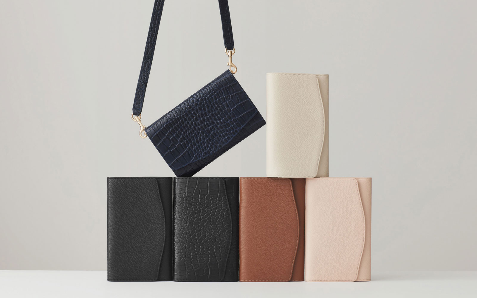 Multiple Colors of Leather Clutch