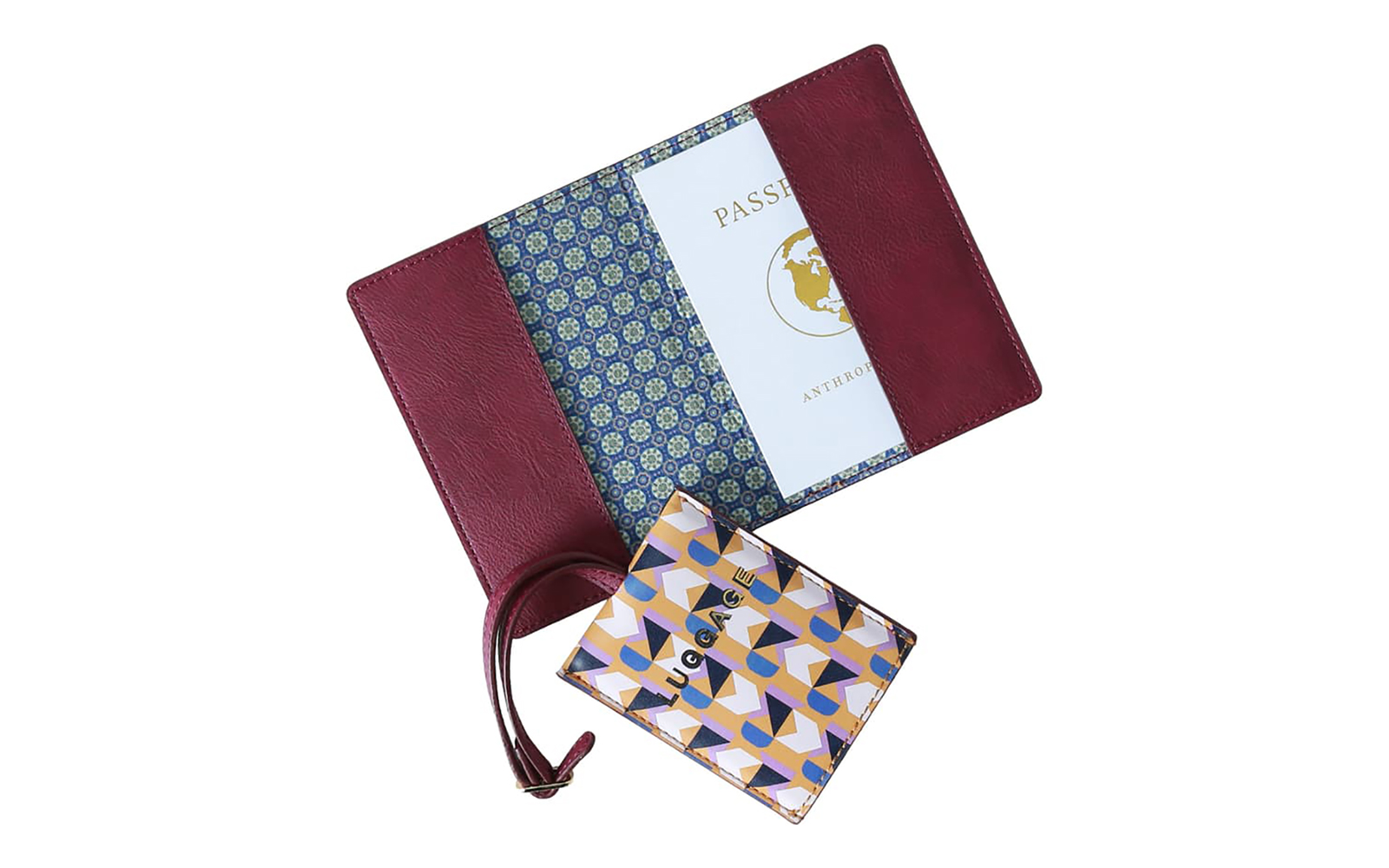 Valery Passport Case & Luggage Tag Set ANTHROPOLOGIE HOME