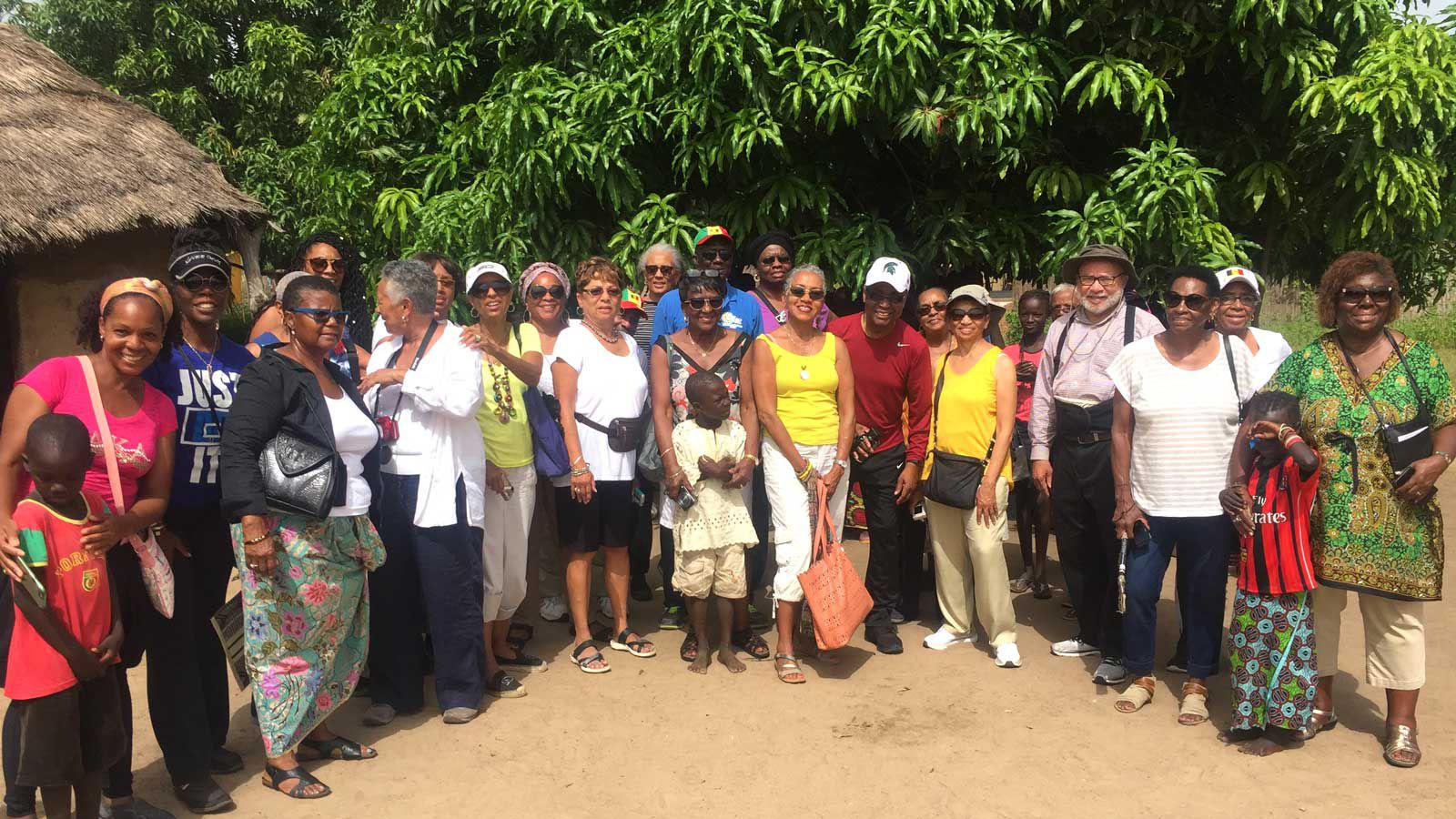 Gaynelle Henderson with travel group tour