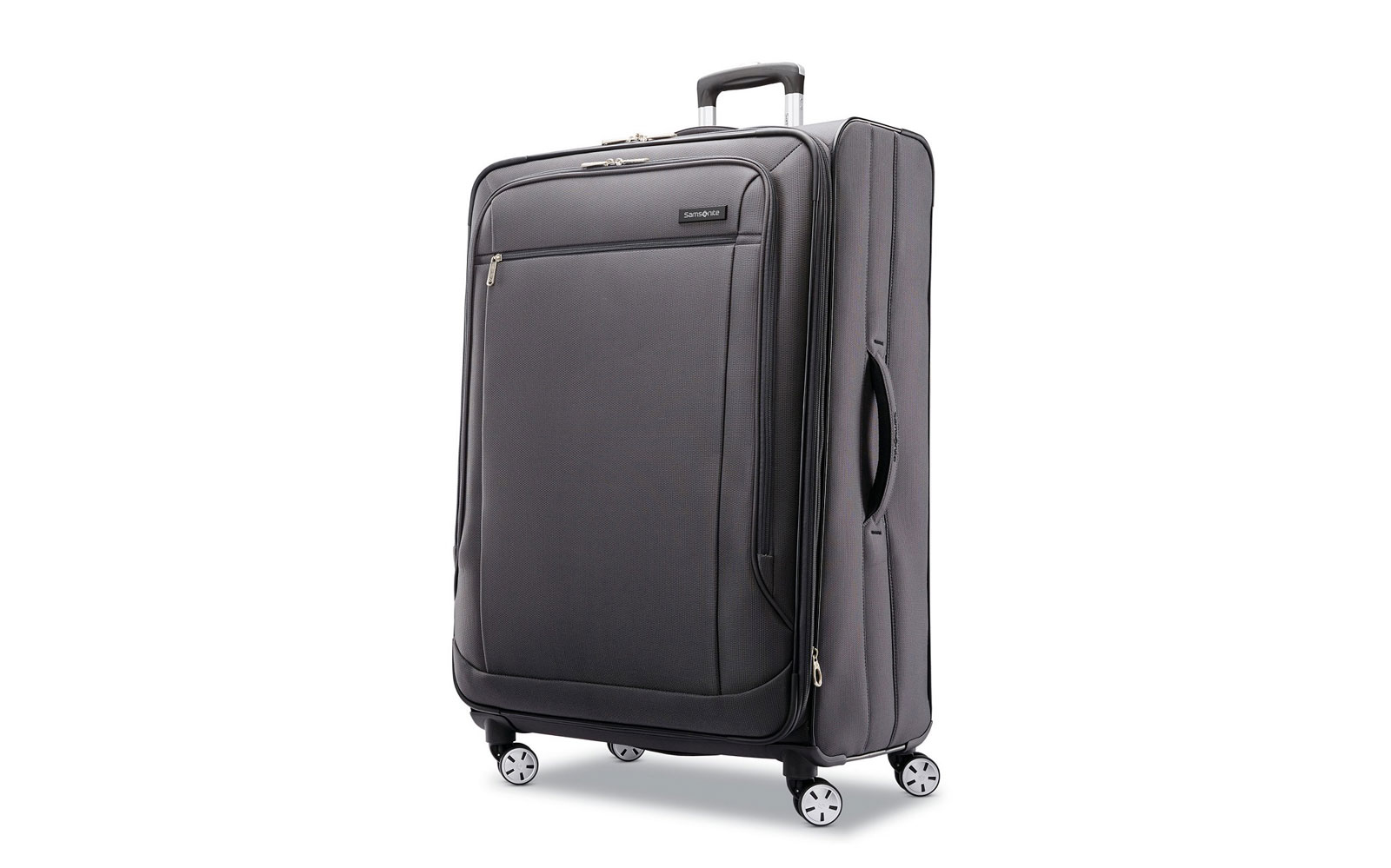 Large Grey Softside Suitcase