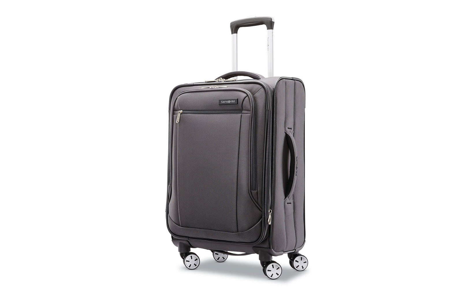 Grey Softside Carry-on Suitcase