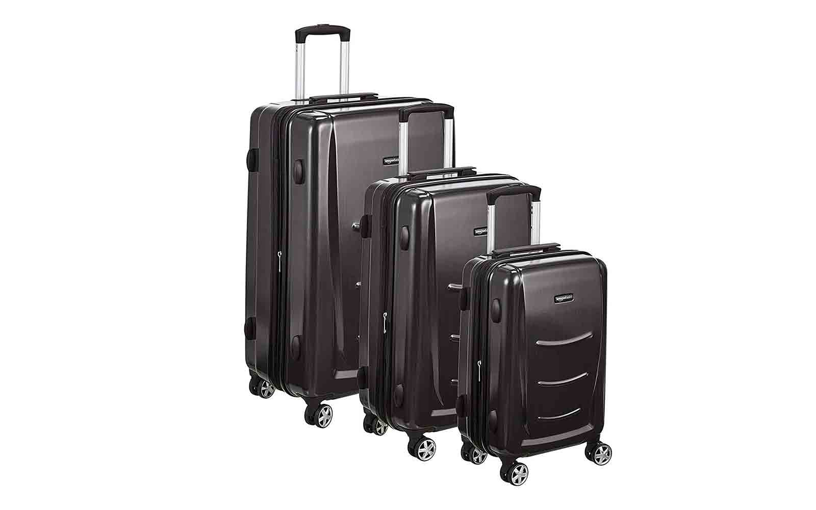 AmazonBasics 3 Piece Hard Shell Luggage