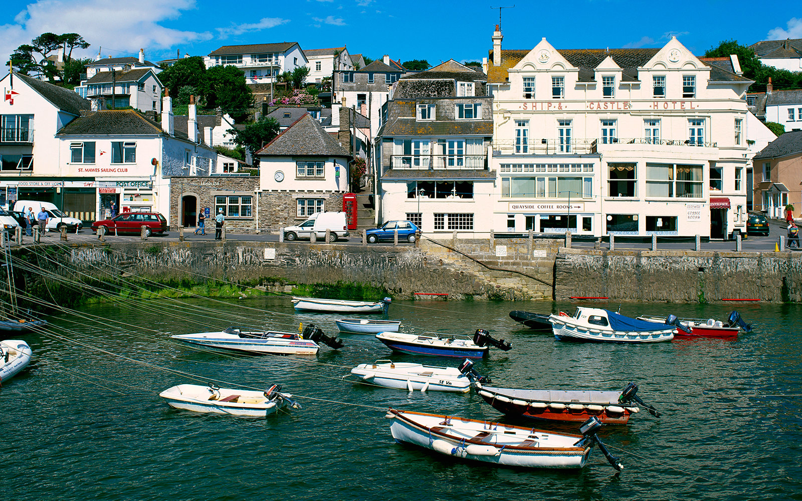 boats in the harbor in St. Mawes, England