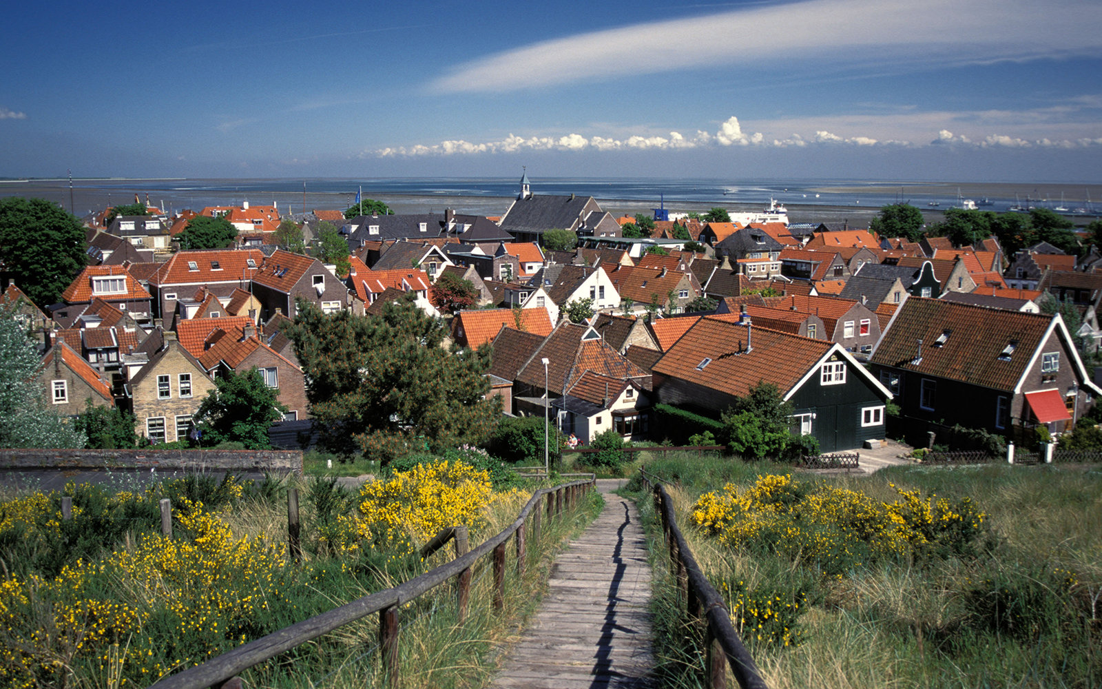 small European town Terschelling in The Netherlands