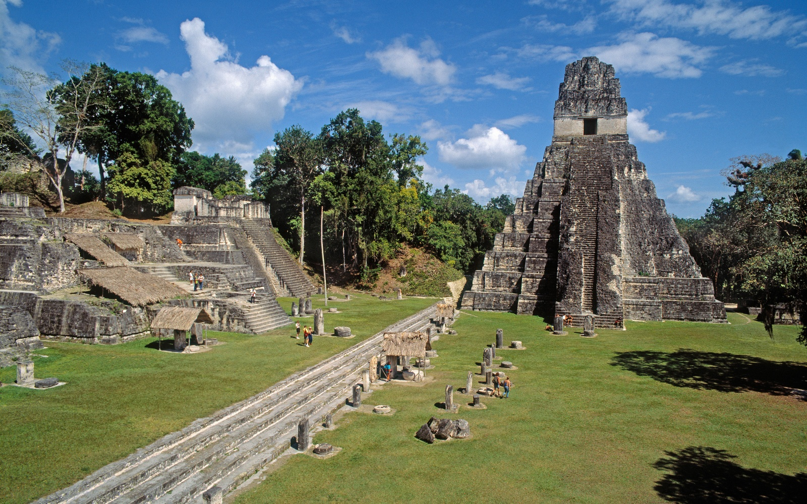 The Mayan Pyramids of Tikal in Guatemala