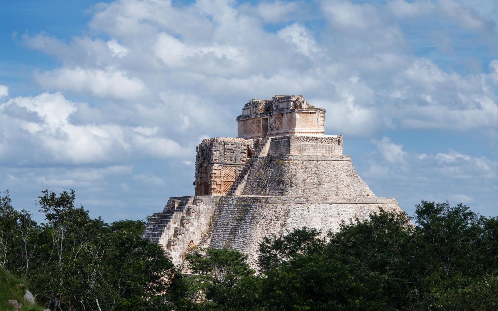 Uxmal Pyramid in Mexico
