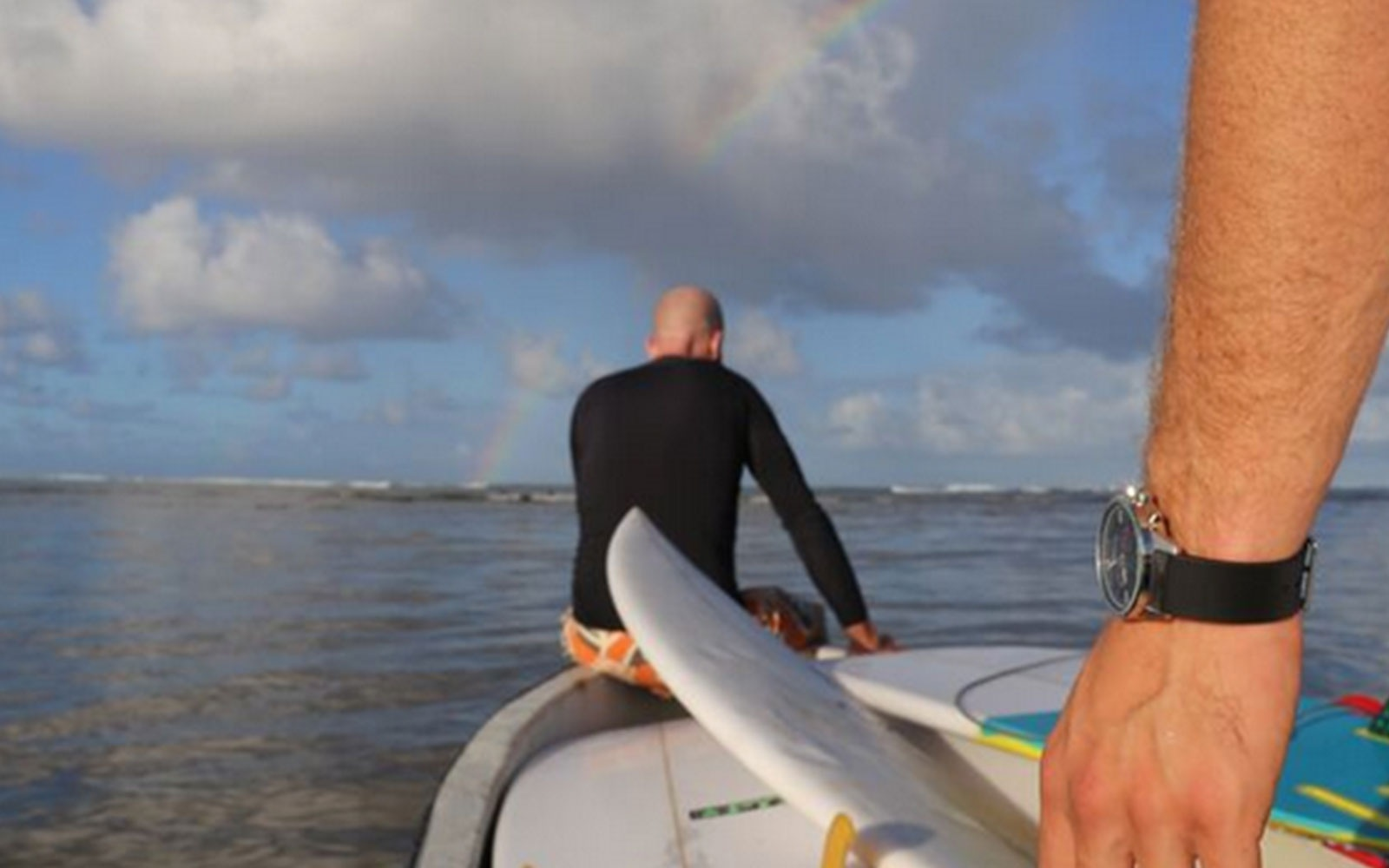 Pancho and Jack Johnson go Surfing