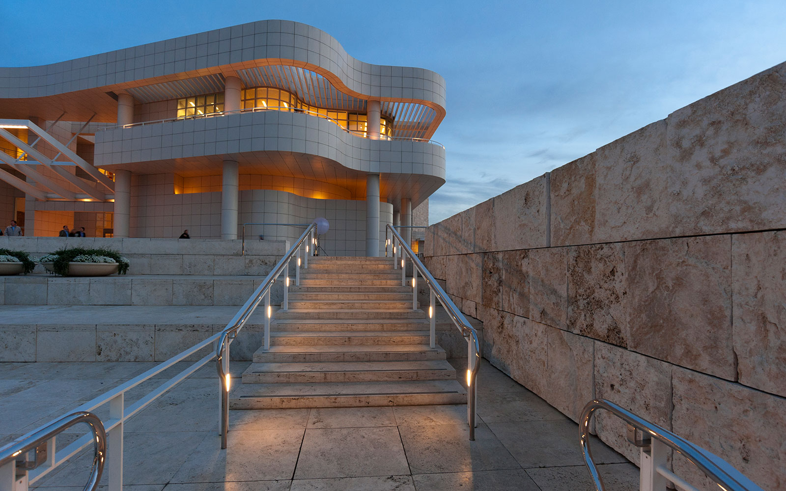 Noon: Admire the Getty Center's Art and Architecture