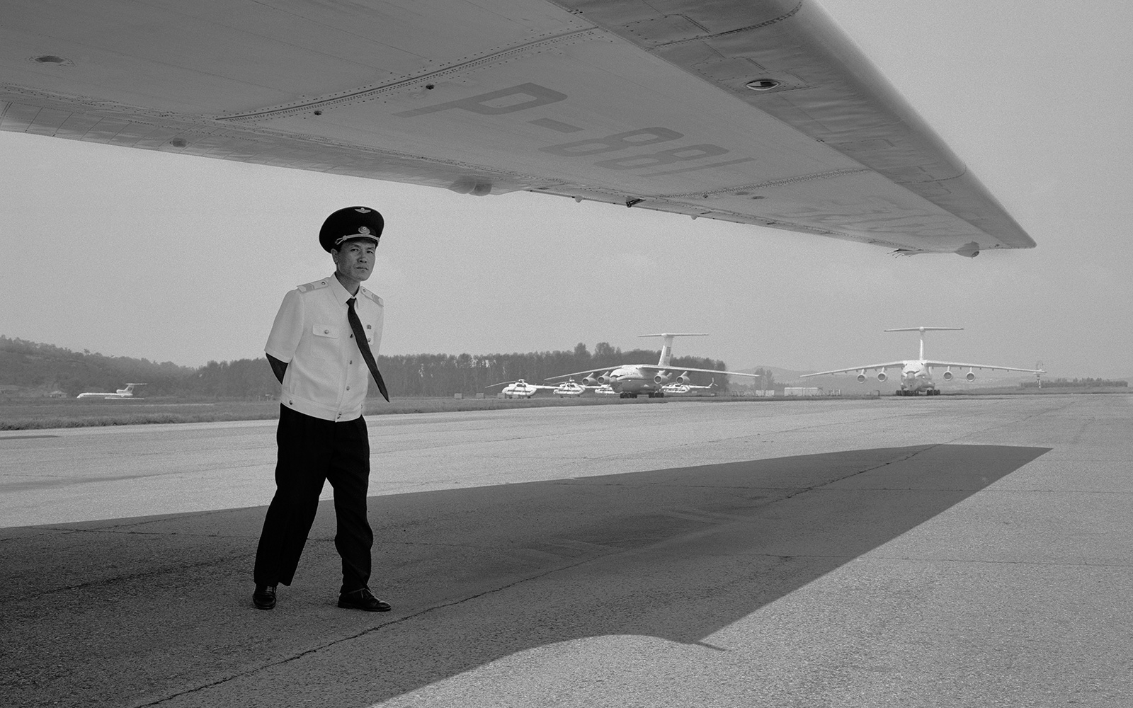 NORTH KOREA. Sunan International Airport. 2011.