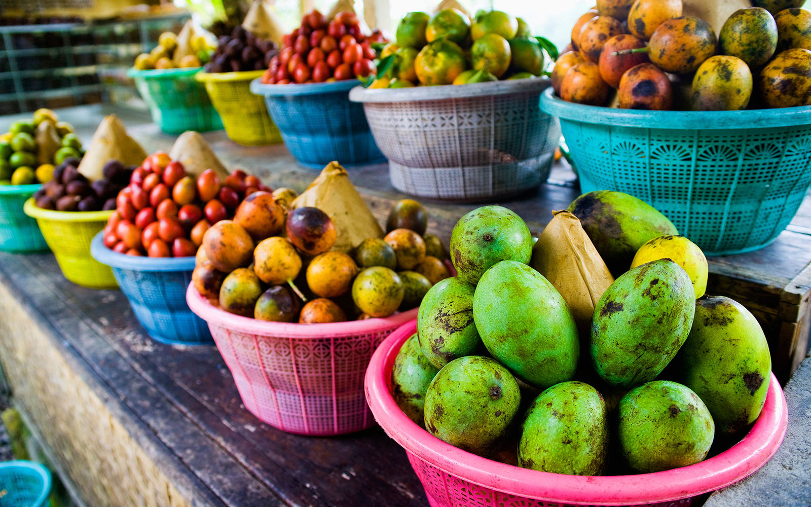 D1GTY0 Exotic fruits at a tropical fruit farm, Bali, Indonesia, Southeast Asia, Asia