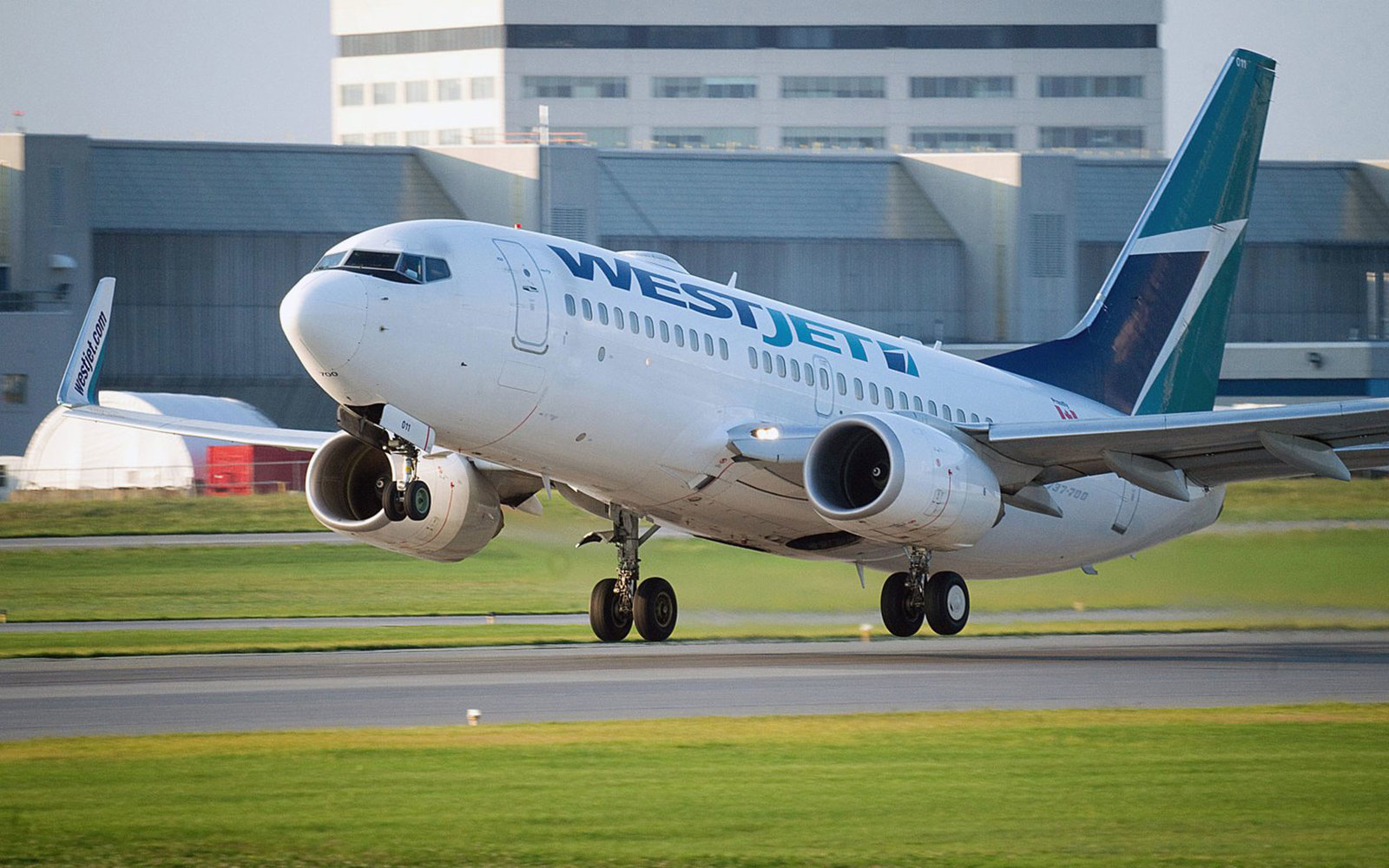 Westjet aircraft taking-off from Trudeau International airport in Montreal.The Canadian Press Images-Mario Beauregard