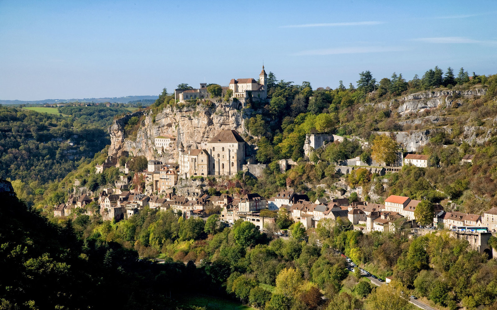 Cahors, Rocamadour village and caves