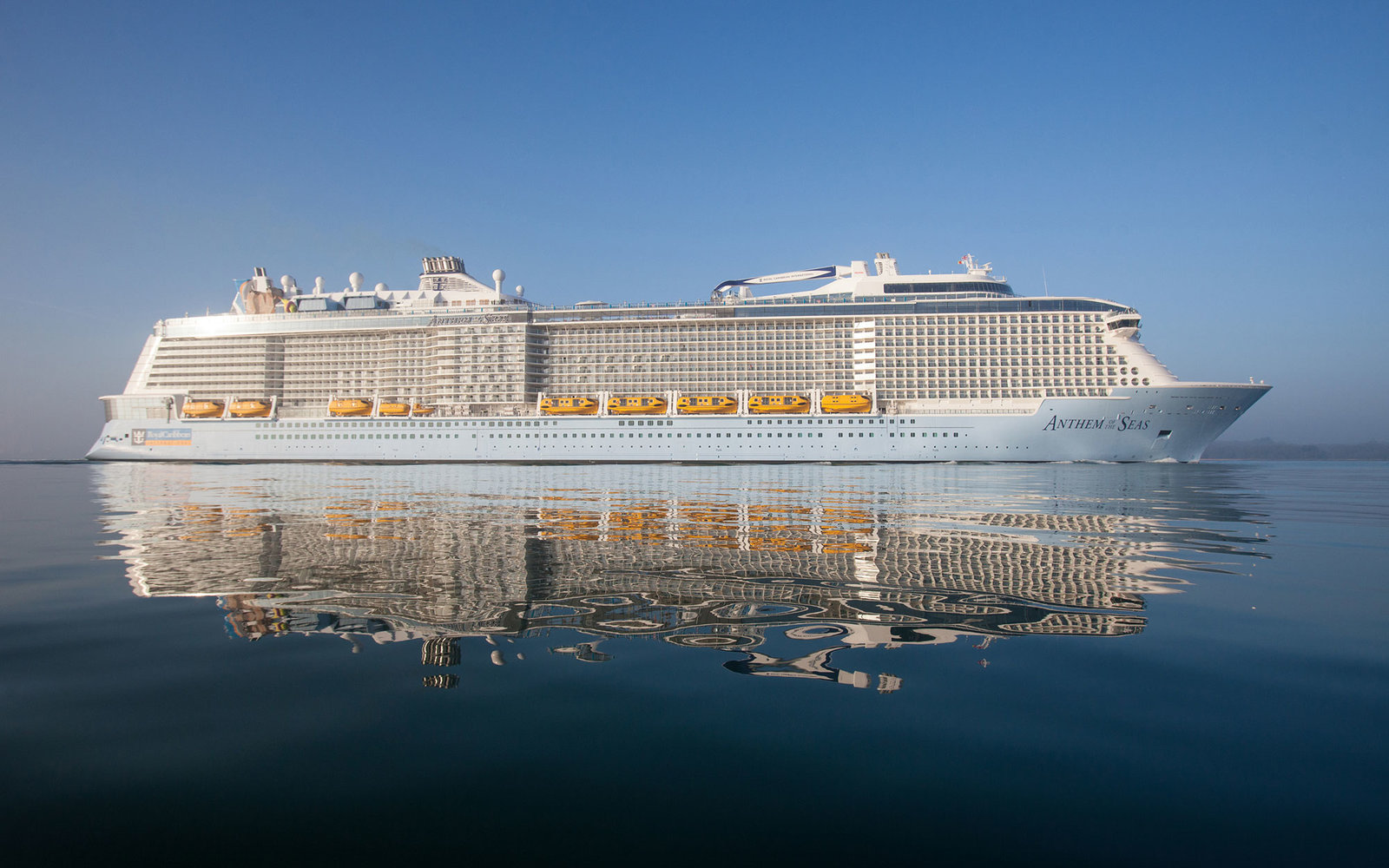 Royal Caribbean's newest and most technologically advanced ship Anthem of the Seas arrives in Southampton where she will be named on Tuesday. In addition to being served drinks by robot bartenders, guests will be able to drive dodgems, learn circus skil