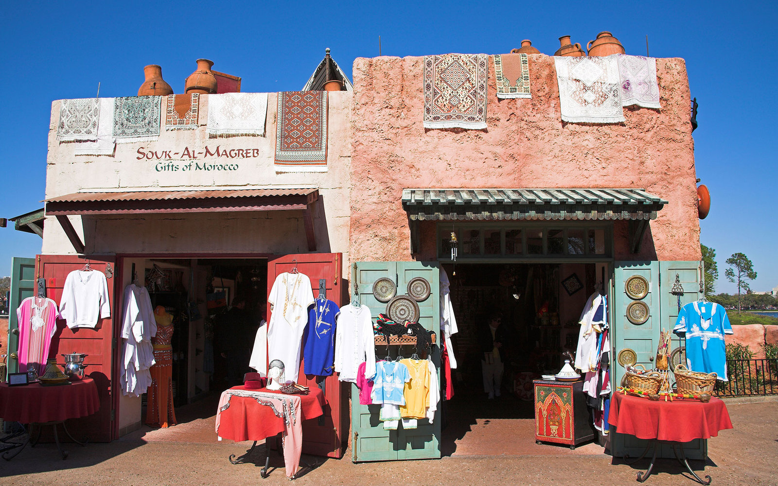 A6F88W Shop in Moroccan section of EPCOT Center, World Showcase, Disney World, Orlando, Florida, USA. Image shot 2007. Exact date unknown.