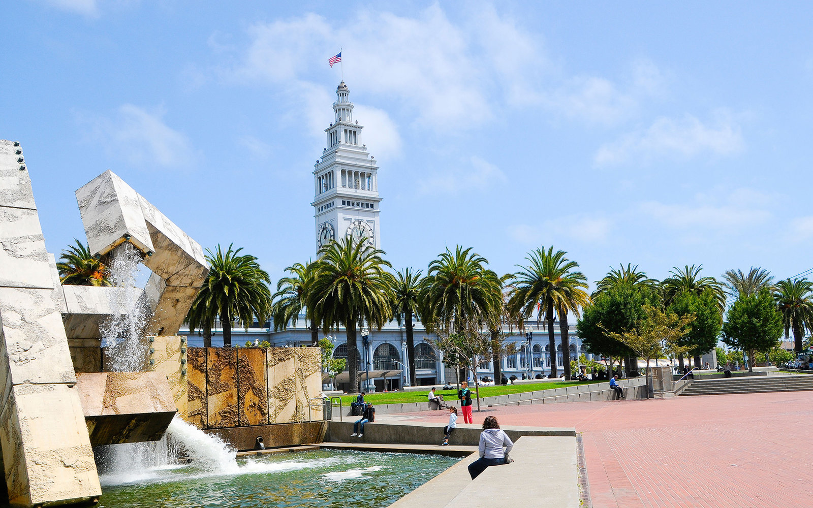 CXNR8P Justin Herman Plaza / Ferry Building - San Francisco. Image shot 2012. Exact date unknown.