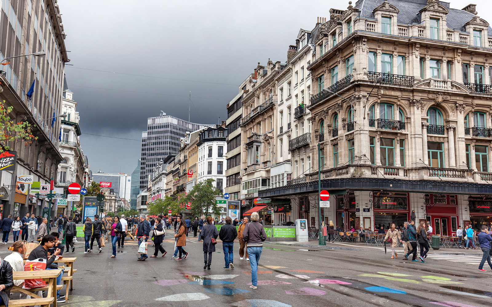 Boulevard Anspach is now pedestrianised