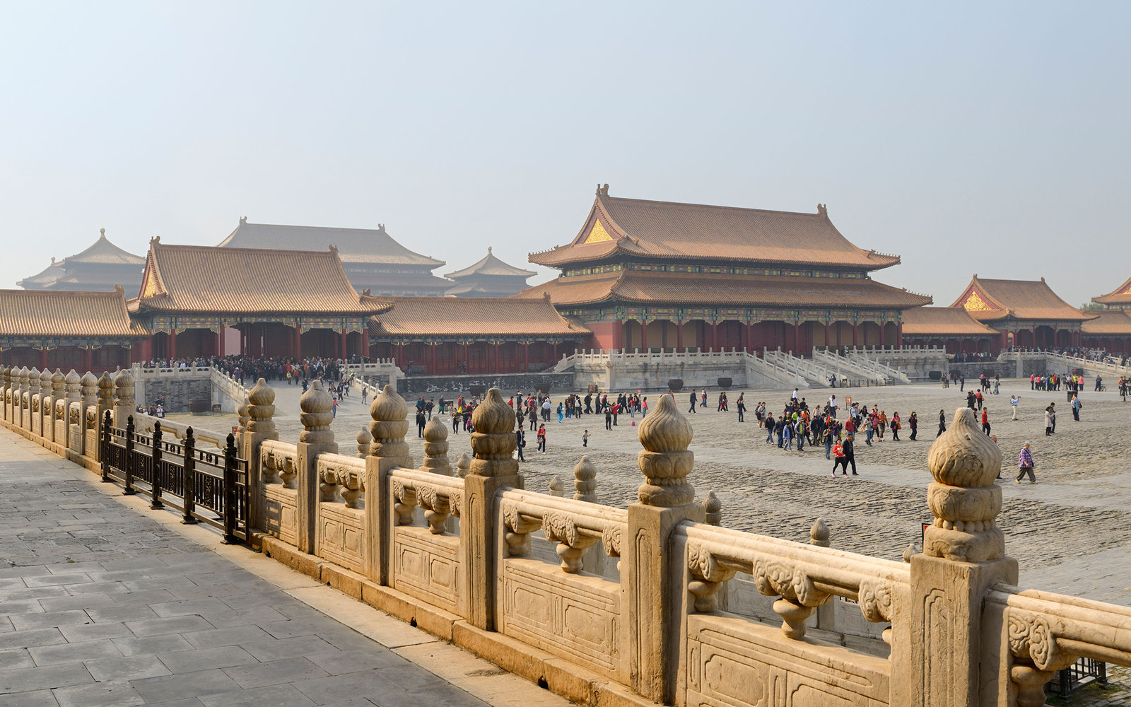 C9AYN4 Back side of the Gate of Supreme harmony and the Outer court in the Forbidden City Beijing China