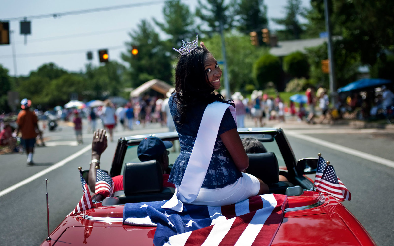 Dale City Virginia July 4 Parade Outstanding Teen of Hampton Roads, Alanna Ball