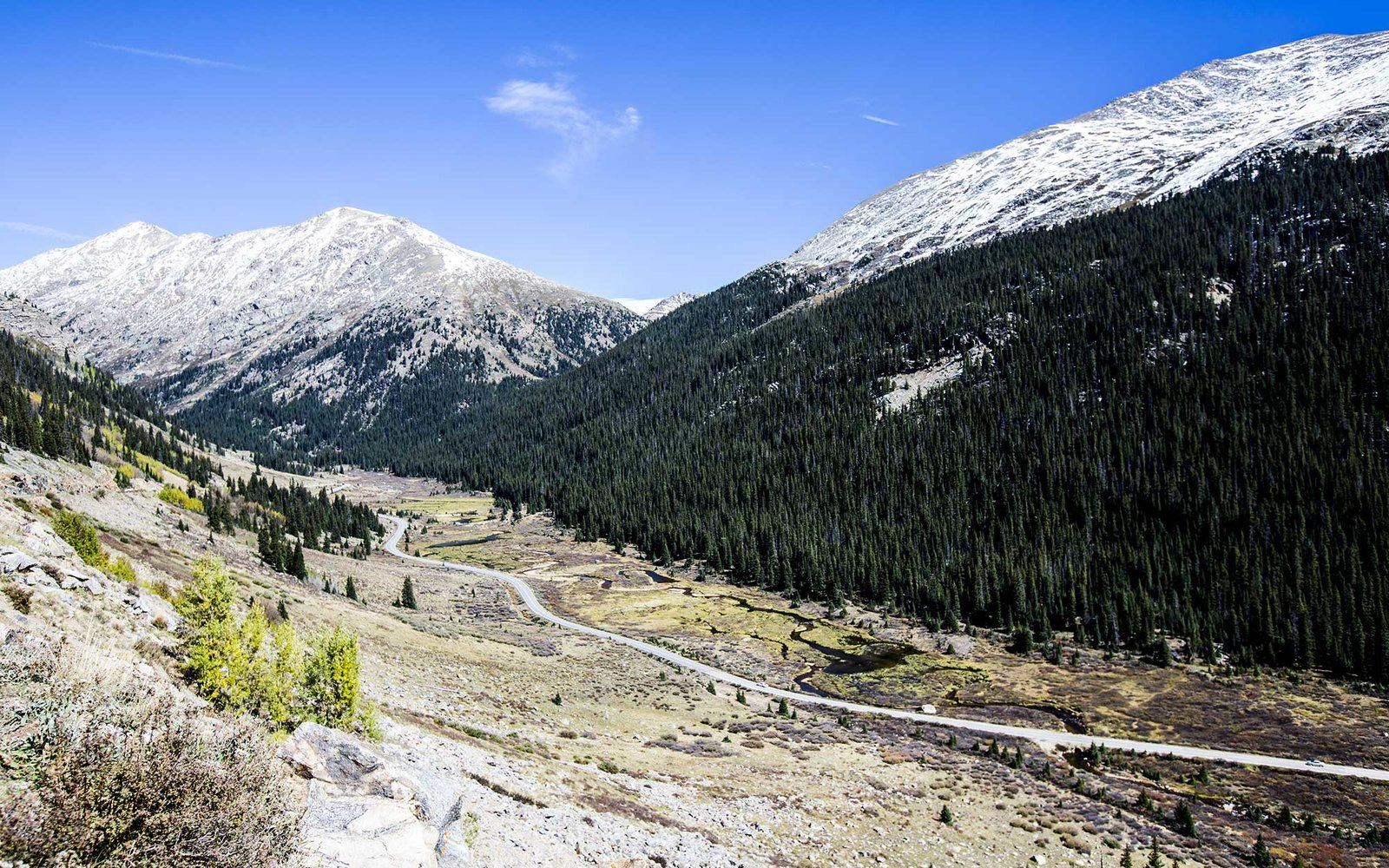 Highway to Independence Pass near Aspen, Colorado