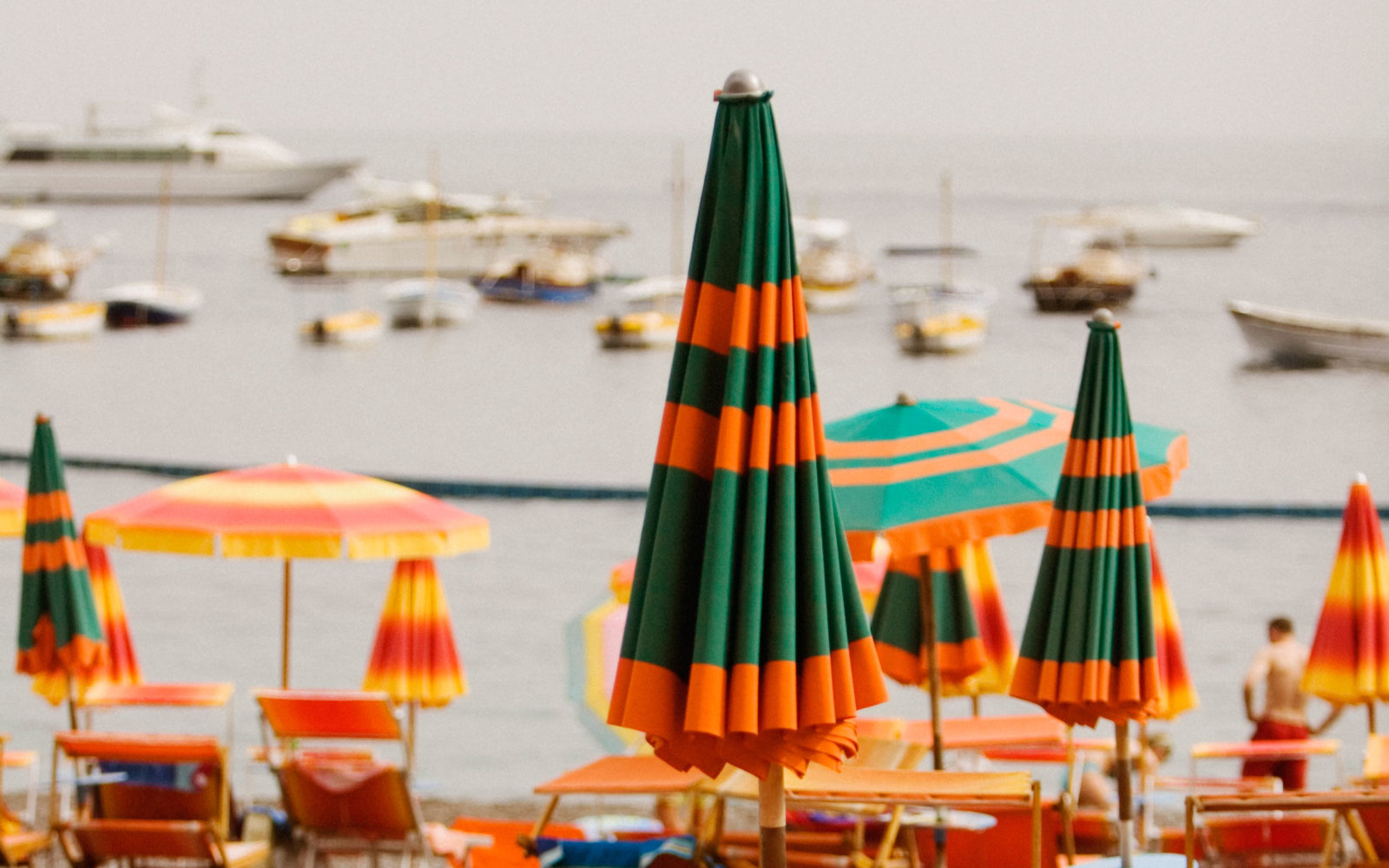 A Few of the Many Umbrellas Dotting Italy's Beaches
