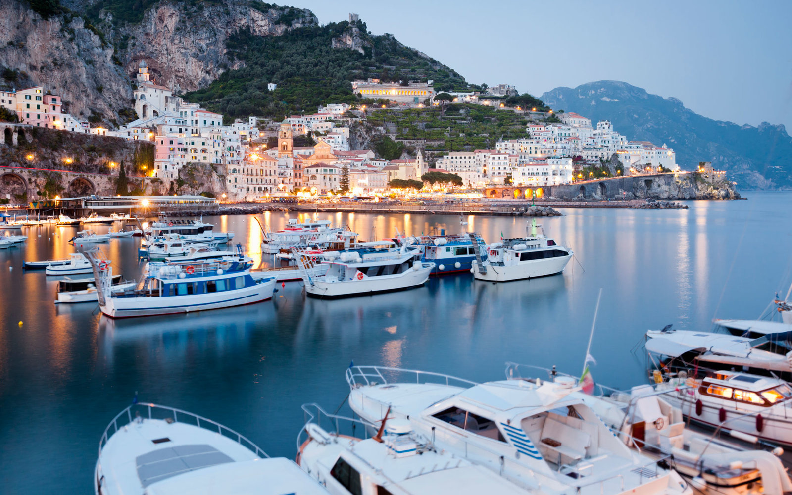 Amalfi Port at Dusk