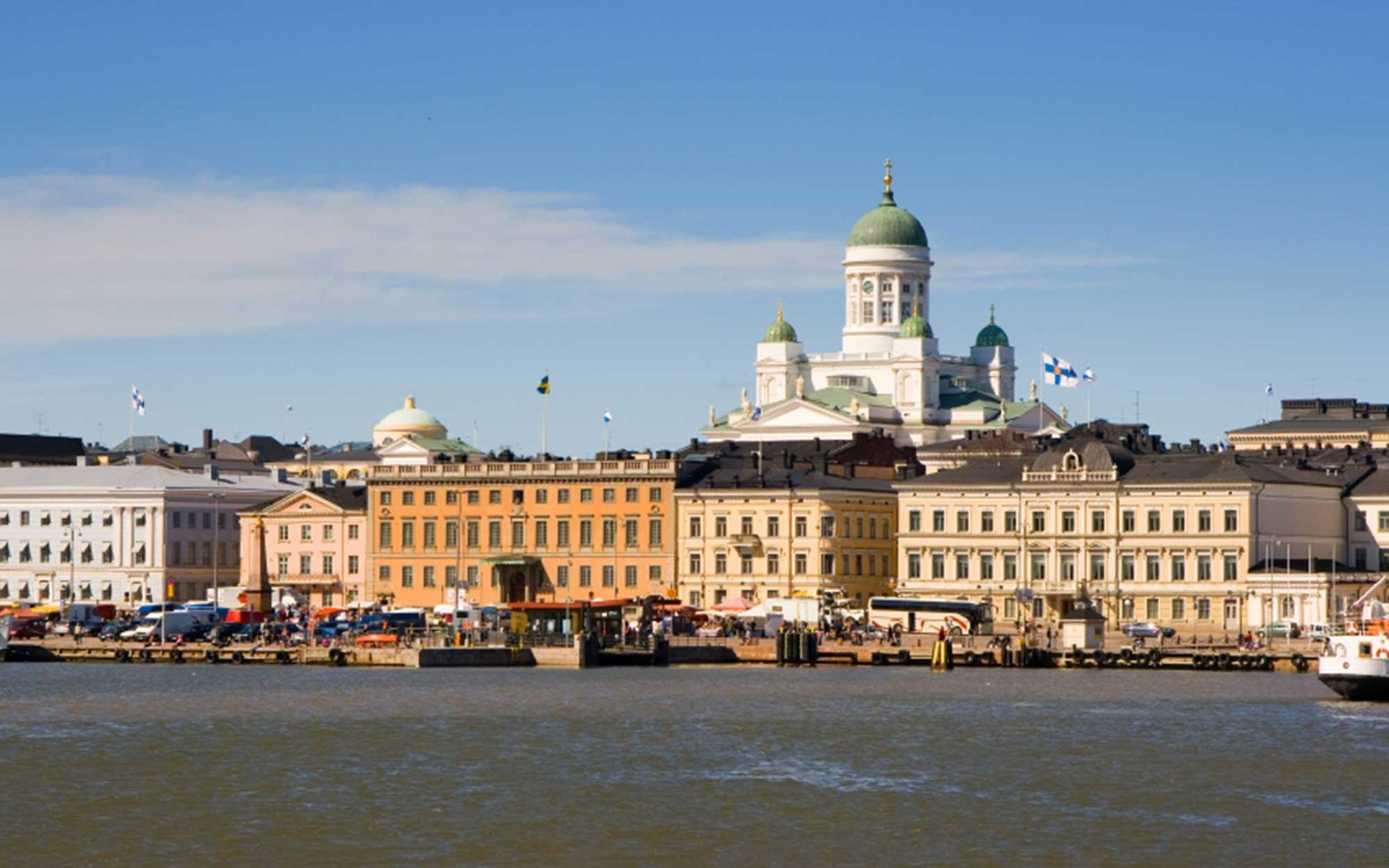 View of Helsinki from the sea