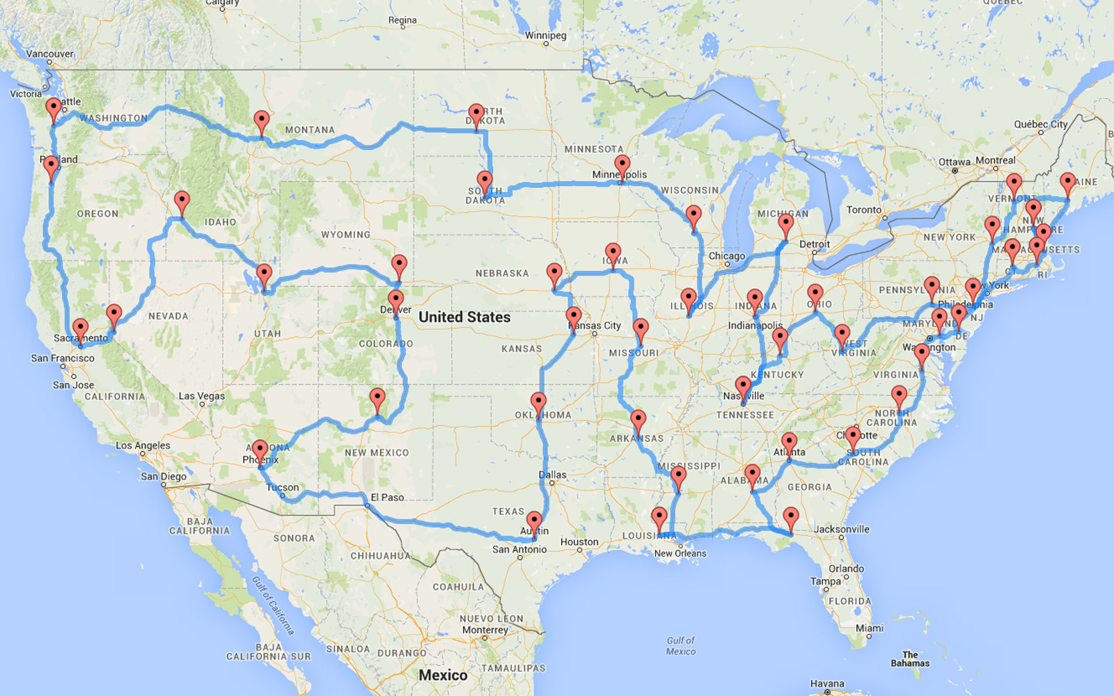 This Man Planned the Most Efficient U.S. Road Trip of All Time (Video)