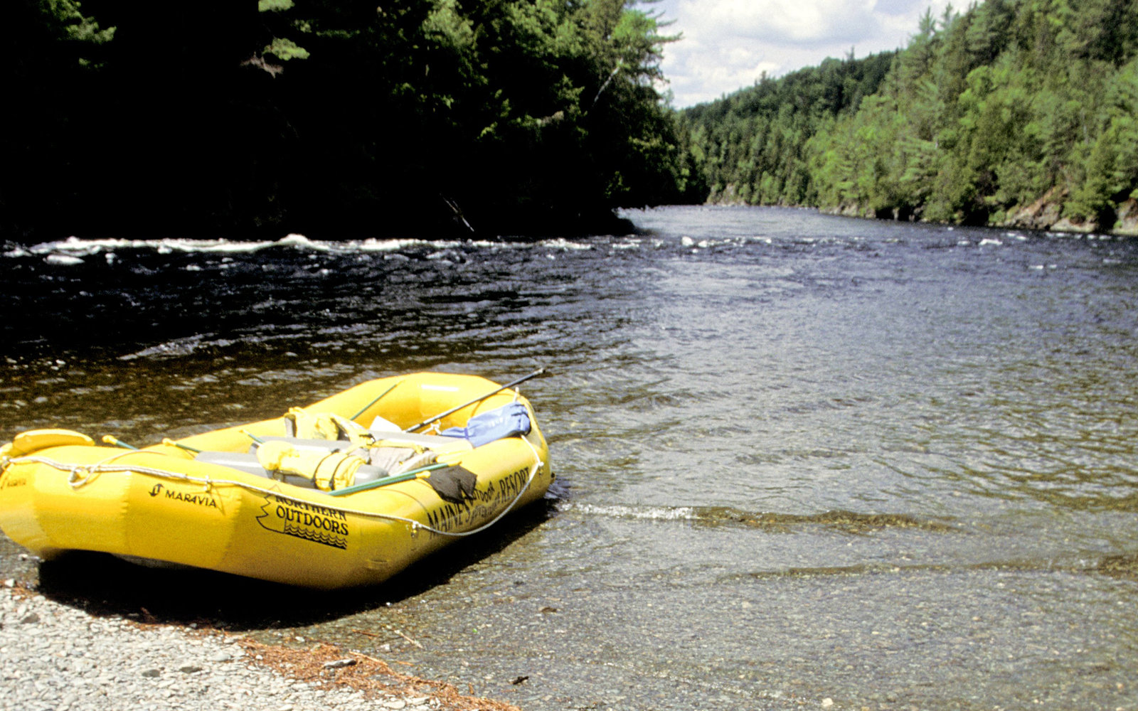 Kennebec River And Raft in The Forks Maine