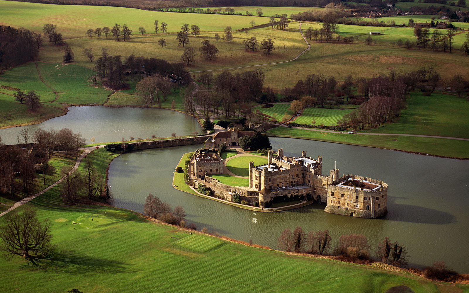 Leeds Castle and moat