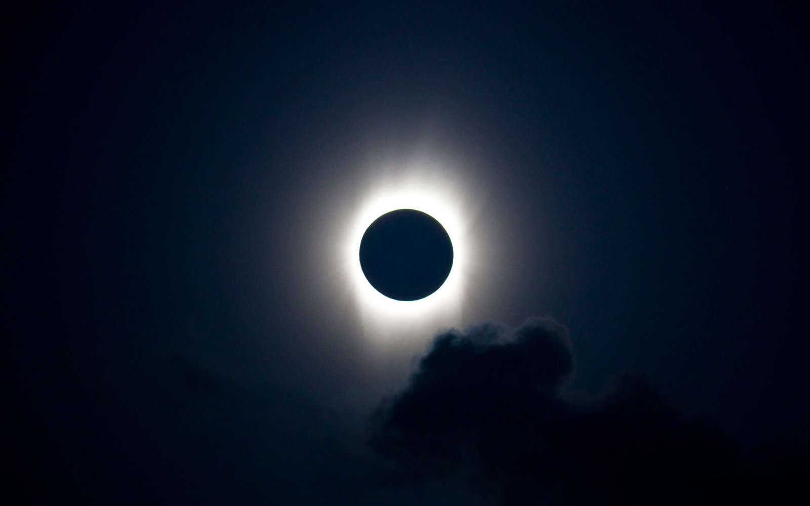 Solar eclipse one year out