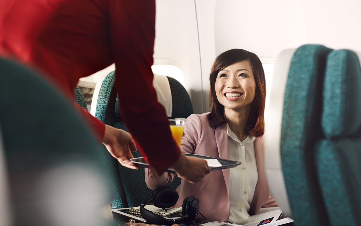 Cathay Pacific Airways food