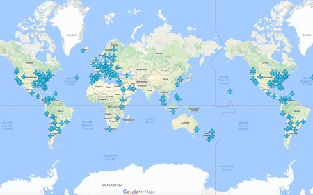 This Map Has Wi Fi Info For Airports All Around The World Travel