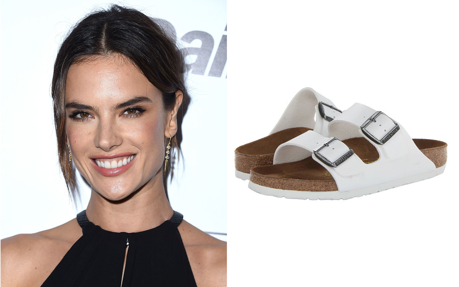 Alessandra Ambrosio in Birkenstock Arizona Sandals