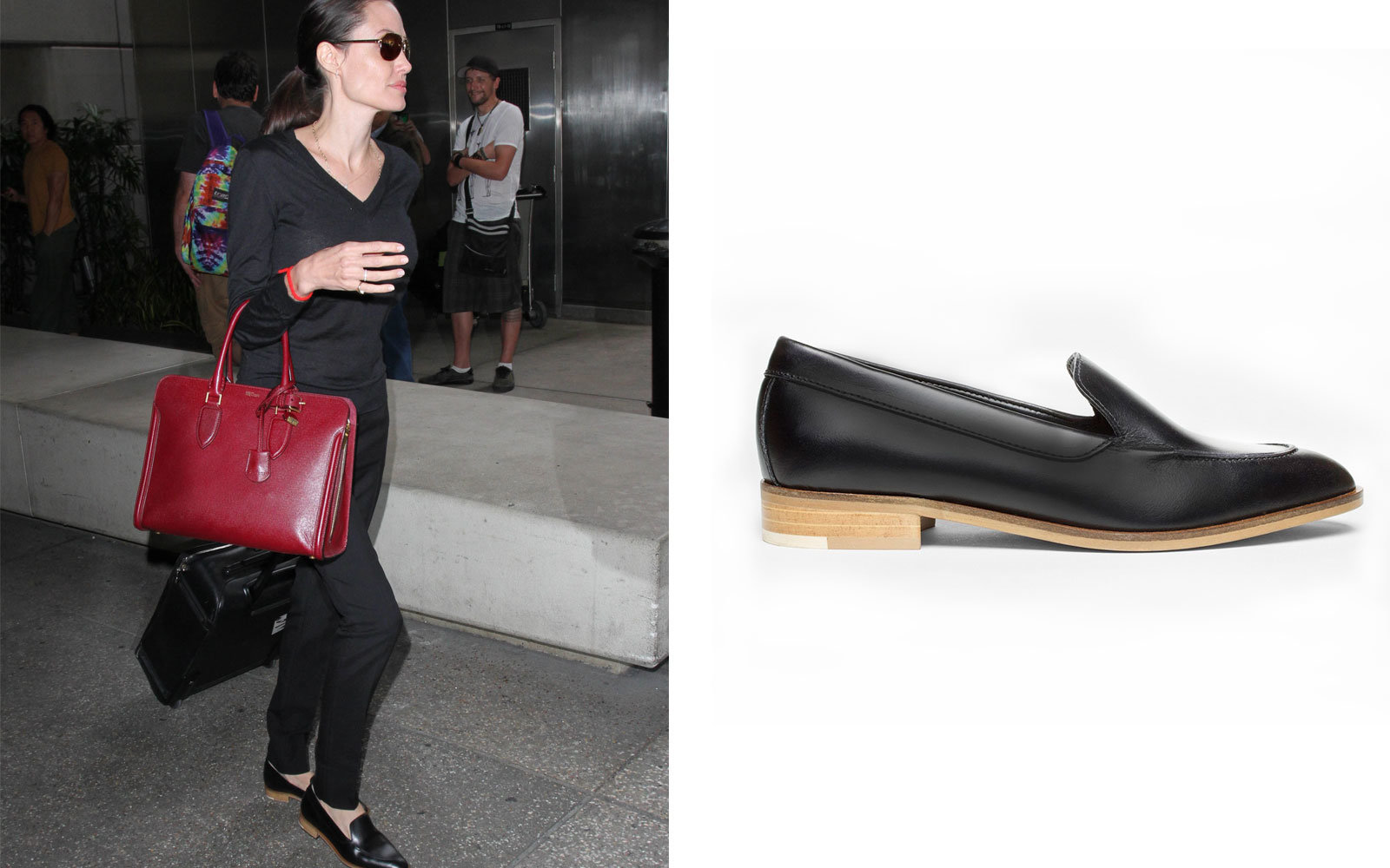 Angelina Jolie in The Modern Loafer by Everlane
