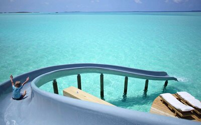 15b12092792f A Ride Down This Insane Waterslide Lands You in a Gorgeous Turquoise Ocean