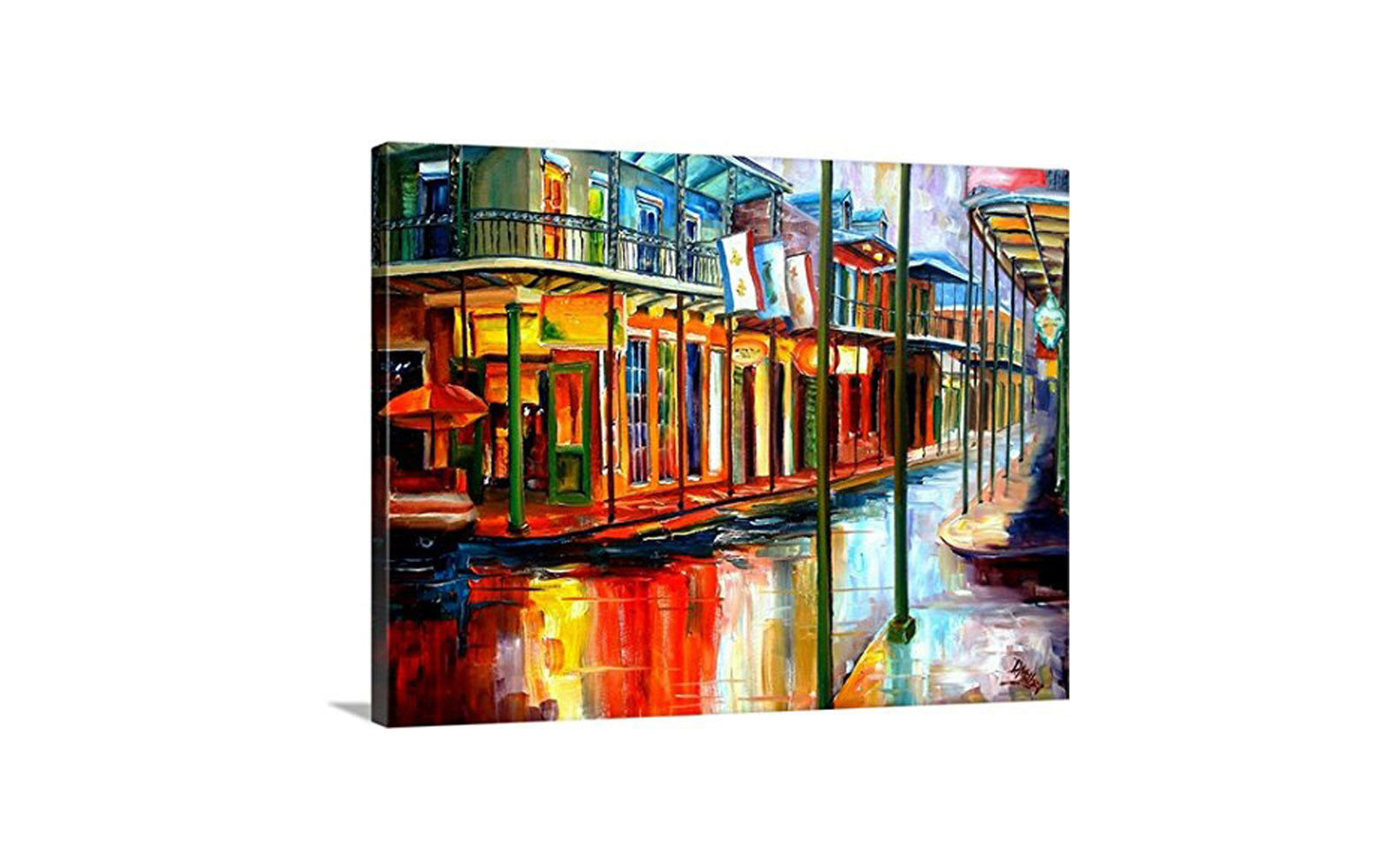 Diane Millsap Canvas Bourbon Street Wall Art Print