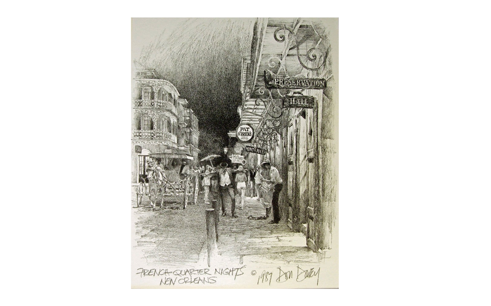 Don Davey French Quarter Nights Art Print