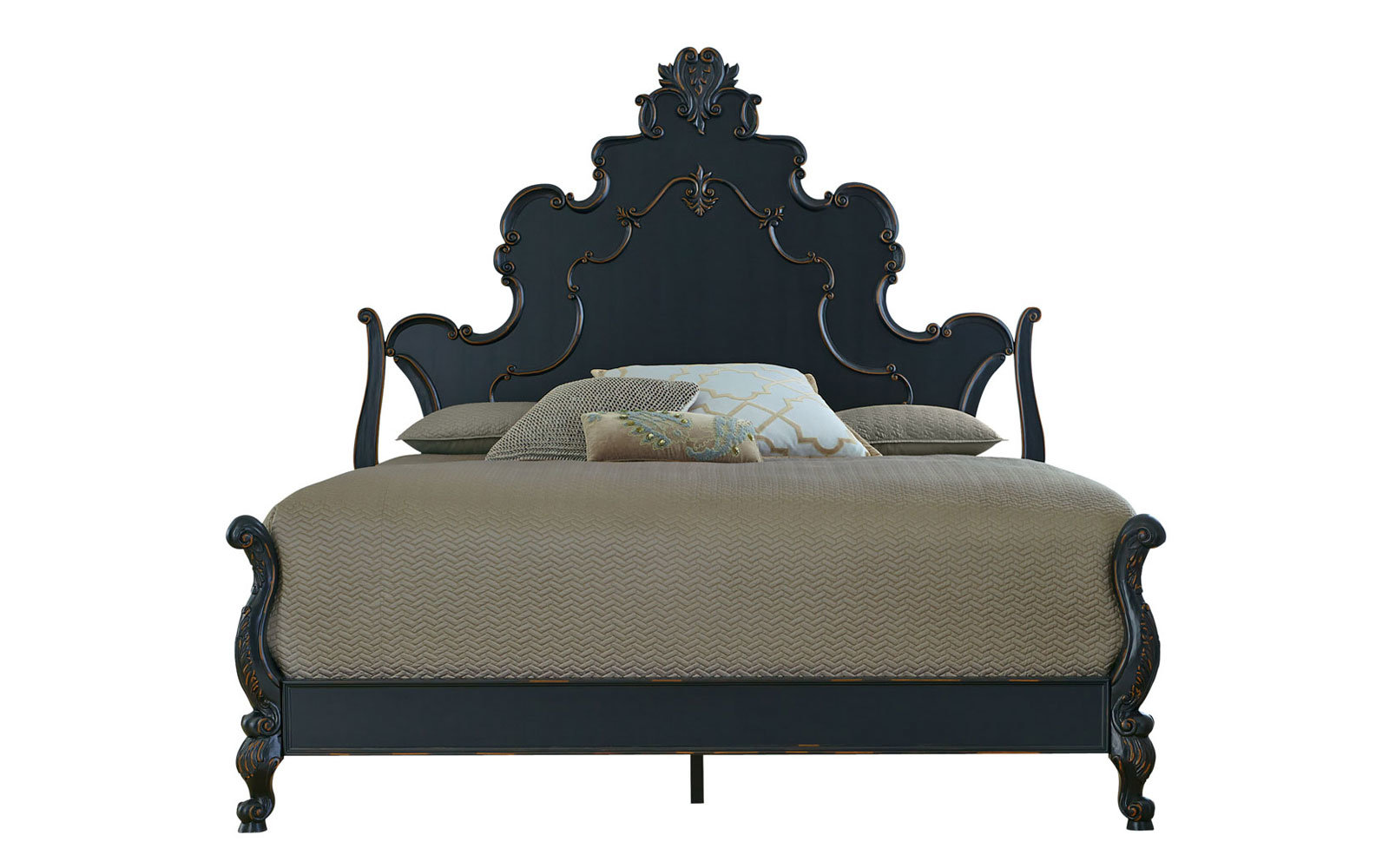 Nicolette Black King Bed