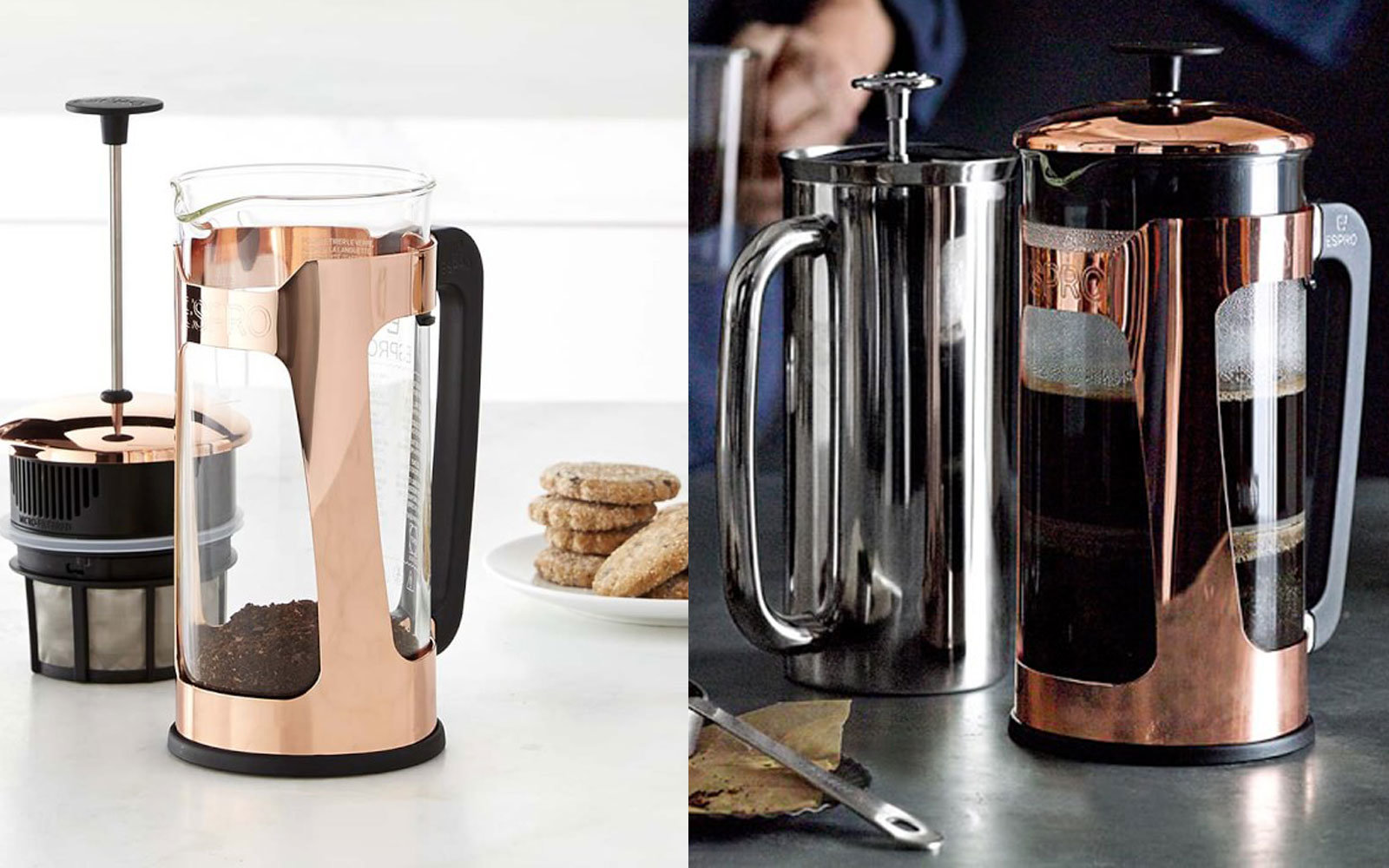 Espro Glass and Copper French Press