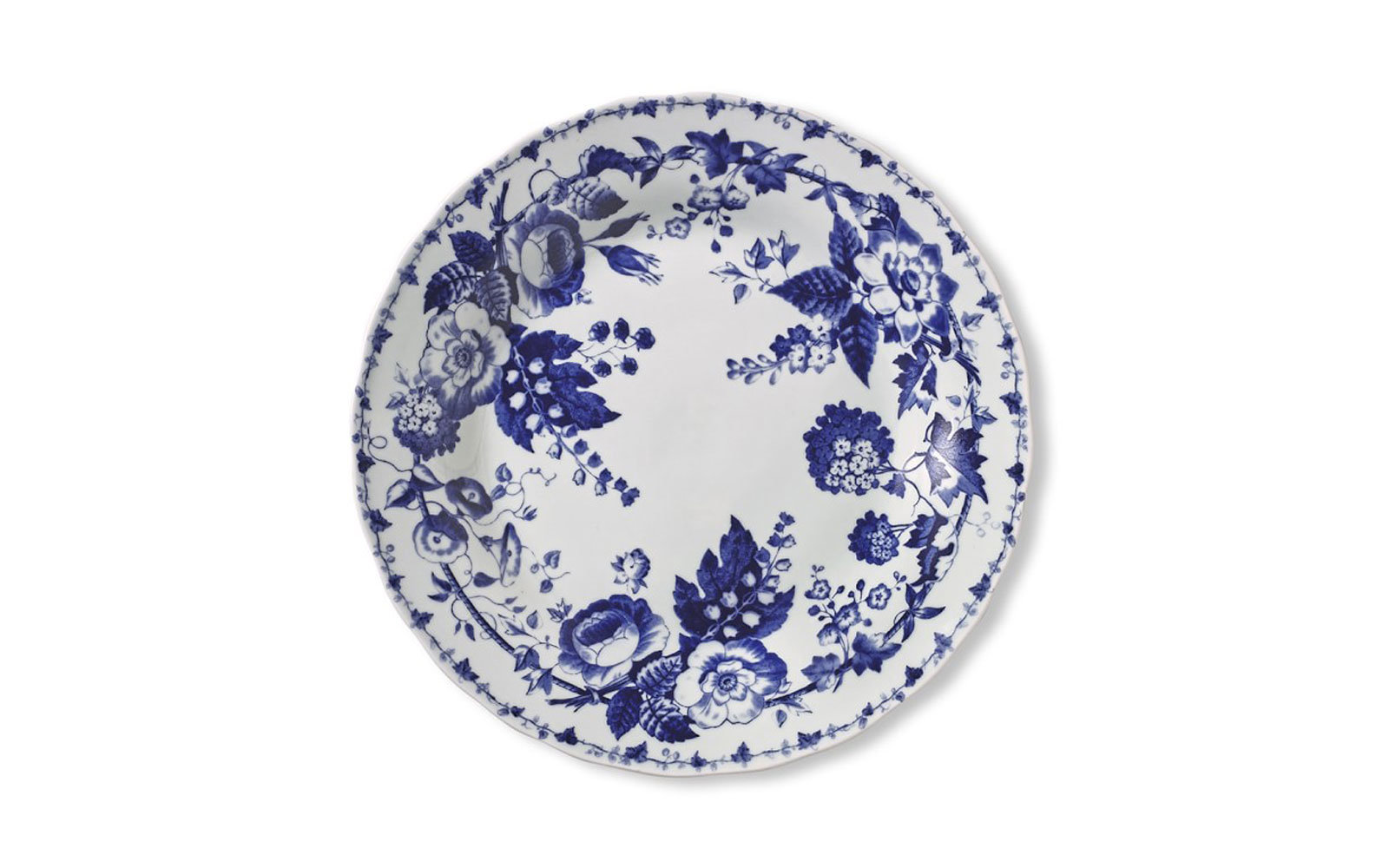 French Blue Bouquet Dinner Plates