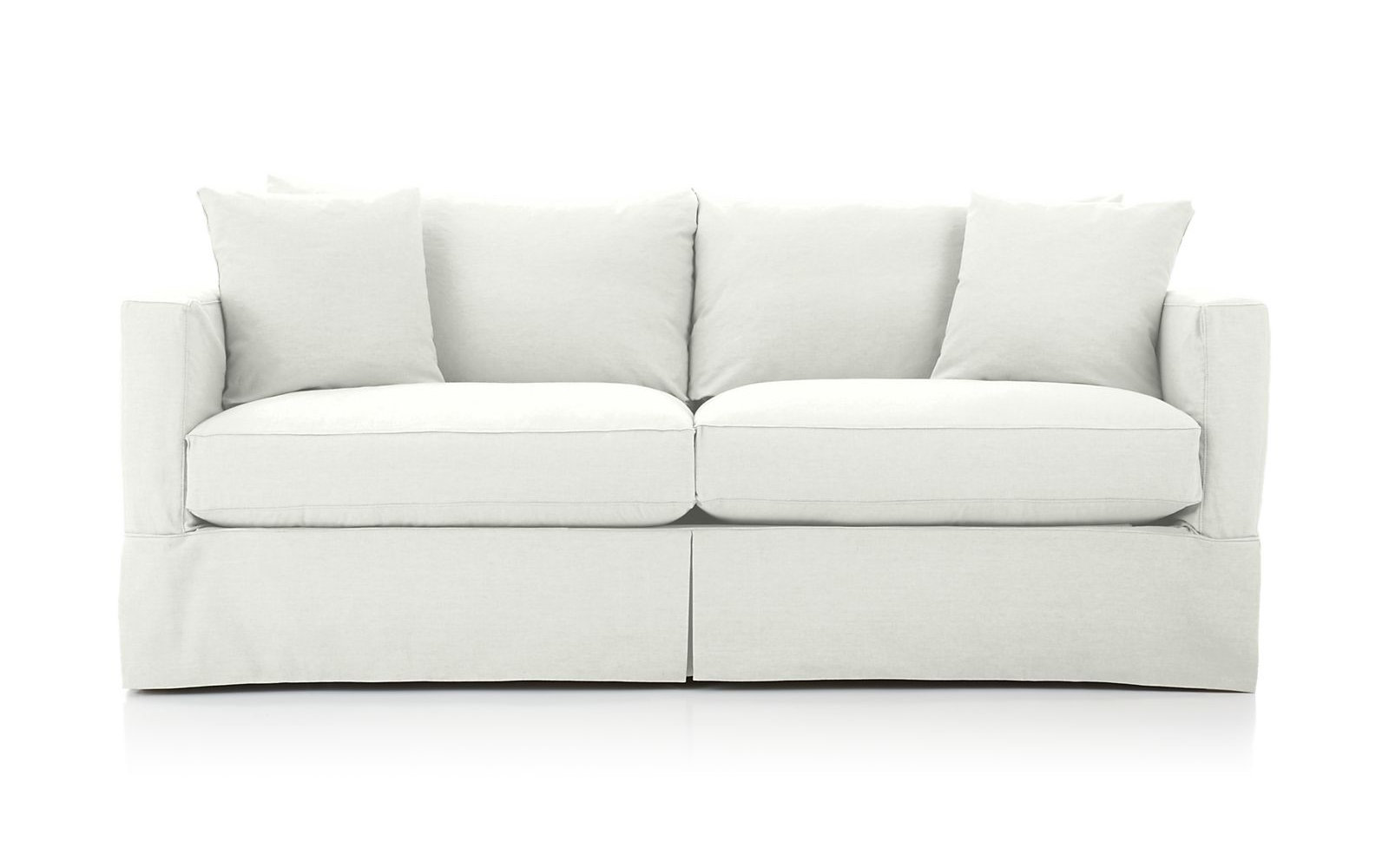 Crate and Barrel Willow Sofa in Snow