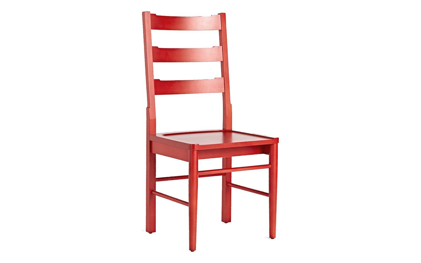 O&G Ladderback Dining Chair in Vermillion